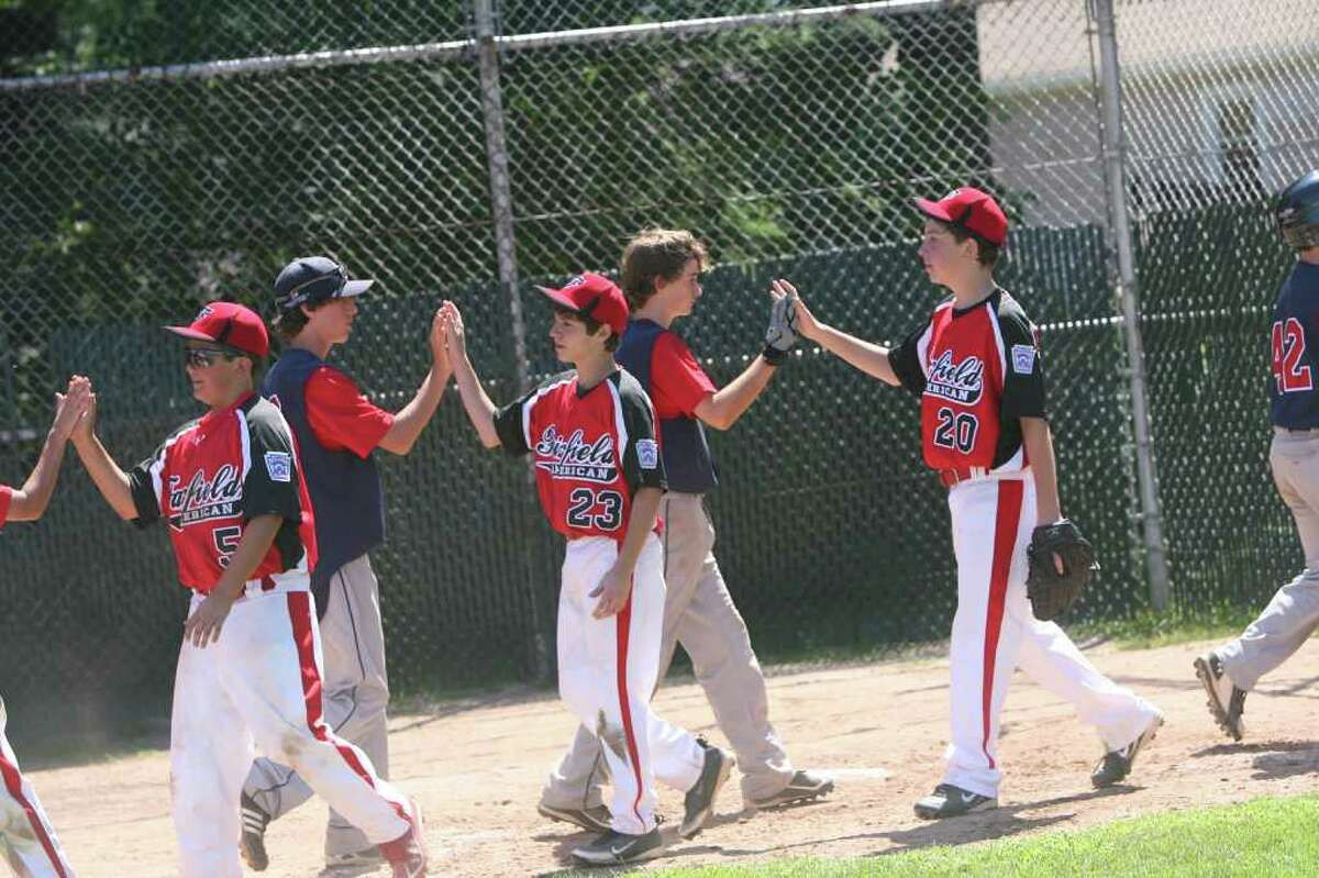 Highlights during the All-Star little league baseball game between Fairfield National and Fairfield American at Blackham Field in Bridgeport on Sunday July 17, 2011.