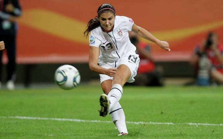 Team USA has found its World Cup superstar in 22-year-old Alex Morgan, a reserve striker and recent graduate of UC Berkeley. Following Sunday's final match, in which she scored a spectacular goal and had another assist, Morgan inspired several trending topics on Twitter and shot to stardom across the web.  Photo: Friedemann Vogel, Getty Images / 2011 Getty Images