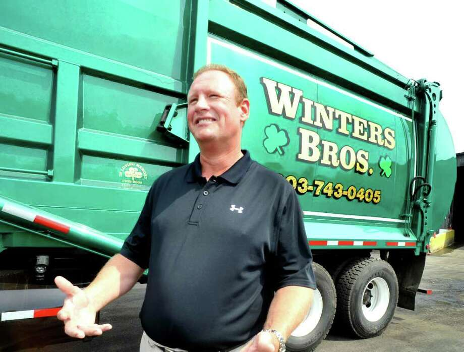Joe Winters talks about trash at Winters Bros. Waste Systems in Danbury, Monday, July 18, 2011. Photo: Michael Duffy