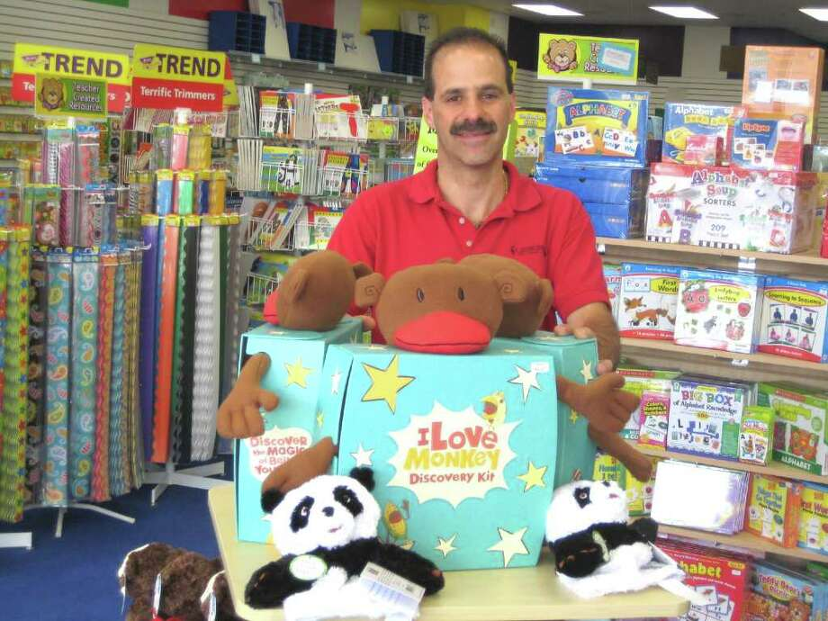 Frank Rinaldi displays some of the items which can be found in Good Ideas, the Newtown business he co-owns with his wife, Shelley Rinaldi. Photo: Contributed Photo