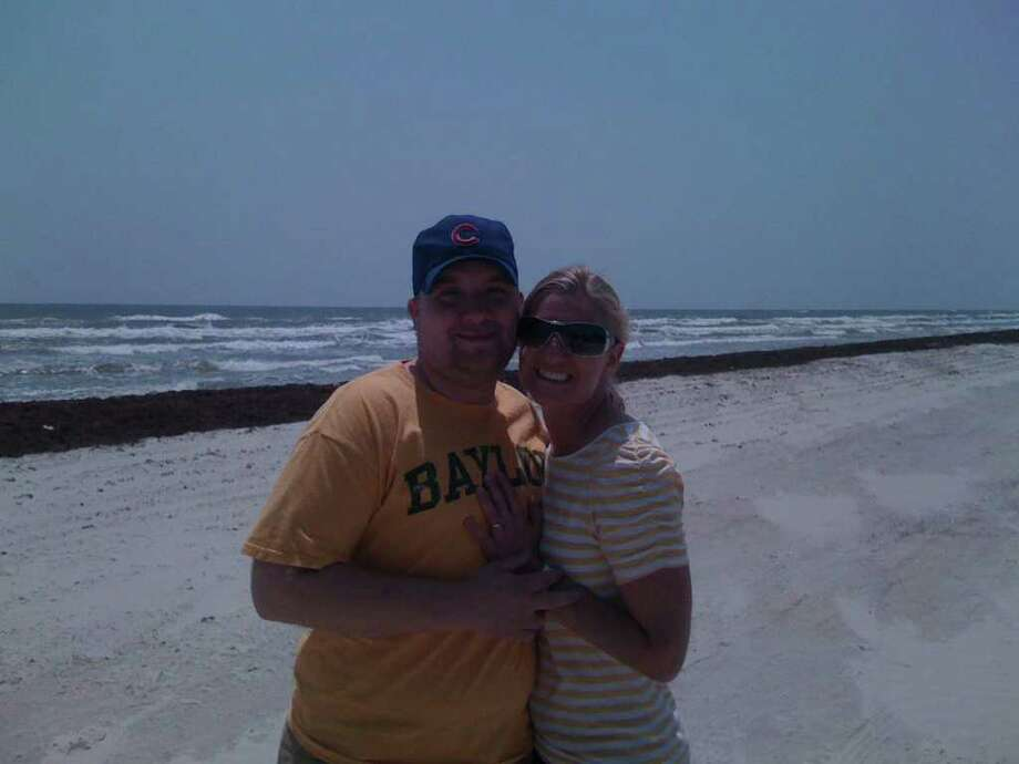 Monica Haas and Neil Golemo after getting engaged in Port Aransas. Photo: Courtesy Neil Golemo.