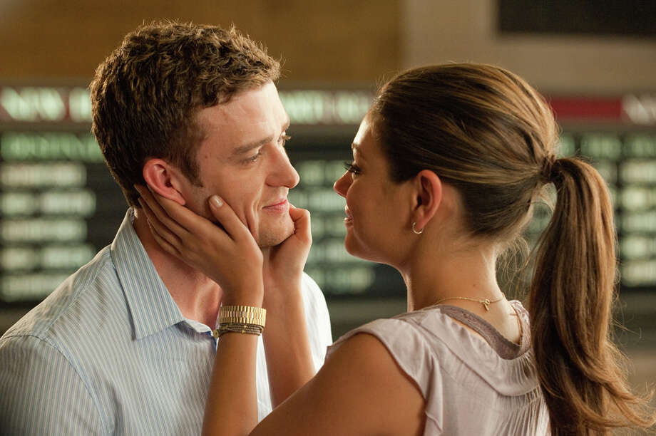 "Dylan (Justin Timberlake) and Jamie (Mila Kunis) try to keep their friendship platonic in ""Friends With Benefits."" SCREEN GEMS /"