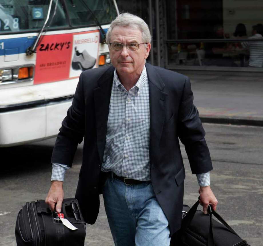 Judge Arthur Boylan, the court-appointed mediator in the NFL labor talks, arrives to the meetings in New York, Monday, July 18, 2011.  (AP Photo/Seth Wenig) Photo: Seth Wenig, STF / AP