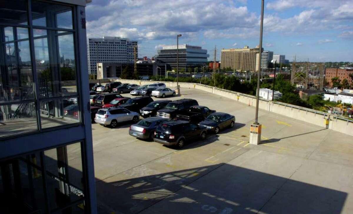 The Stamford Transportation Center Garage on Station Place on Thursday, July 14, 2011.