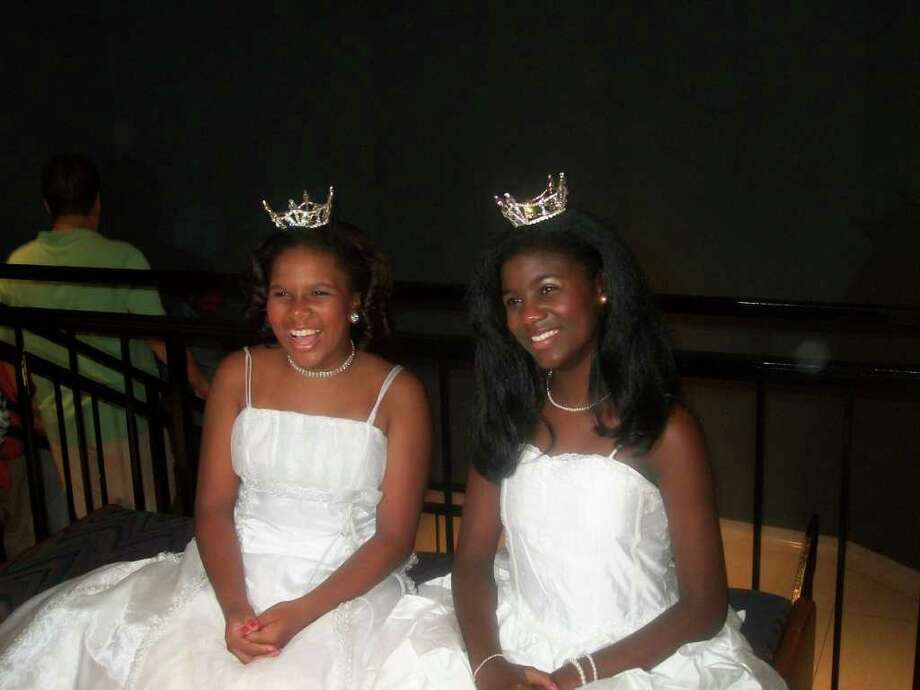 Alexandria Green and Mya Newsham. As Lone Star Princesses in the Miss America program, Green, 12, and Newsham, 11, accompany Miss Houston and other titleholders on charity appearances. They also performed at the Miss Texas Scholarship Pageant, which selects the Lone Star State s representative to Miss America. Photo: Photo Courtesy Alexandria Green