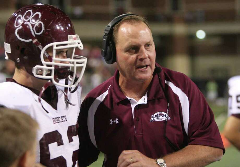 Cy-Fair head coach Ed Pustejovsky during the game between Cy-Fair and Cy-Springs at the Berry Center on 10/8/10. Photo by Thomas Nguyen. Photo: Thomas Nguyen, Freelance / Freelance
