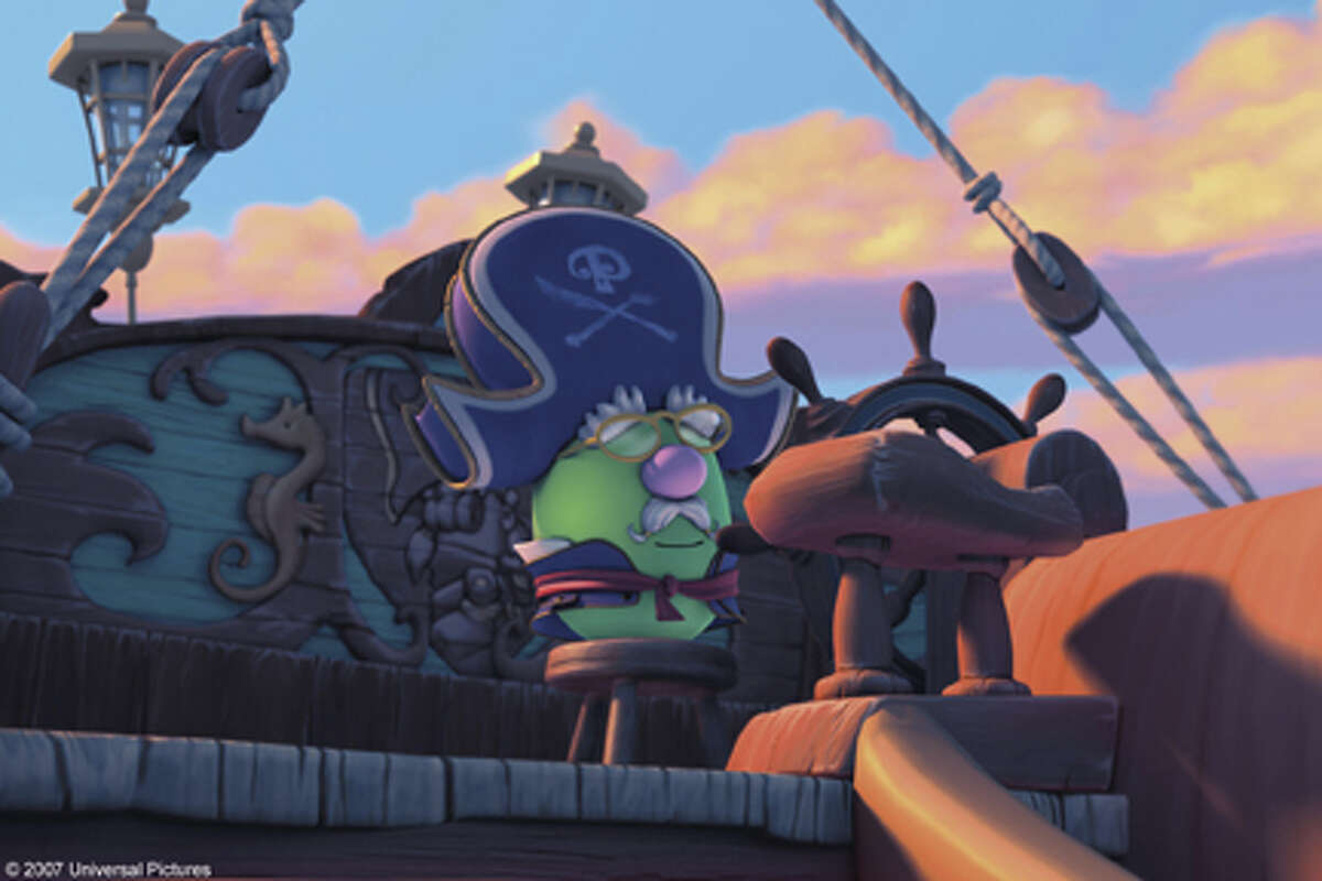 """A scene from the film """"The Pirates Who Don't Do Anything: A VeggieTales Movie."""""""
