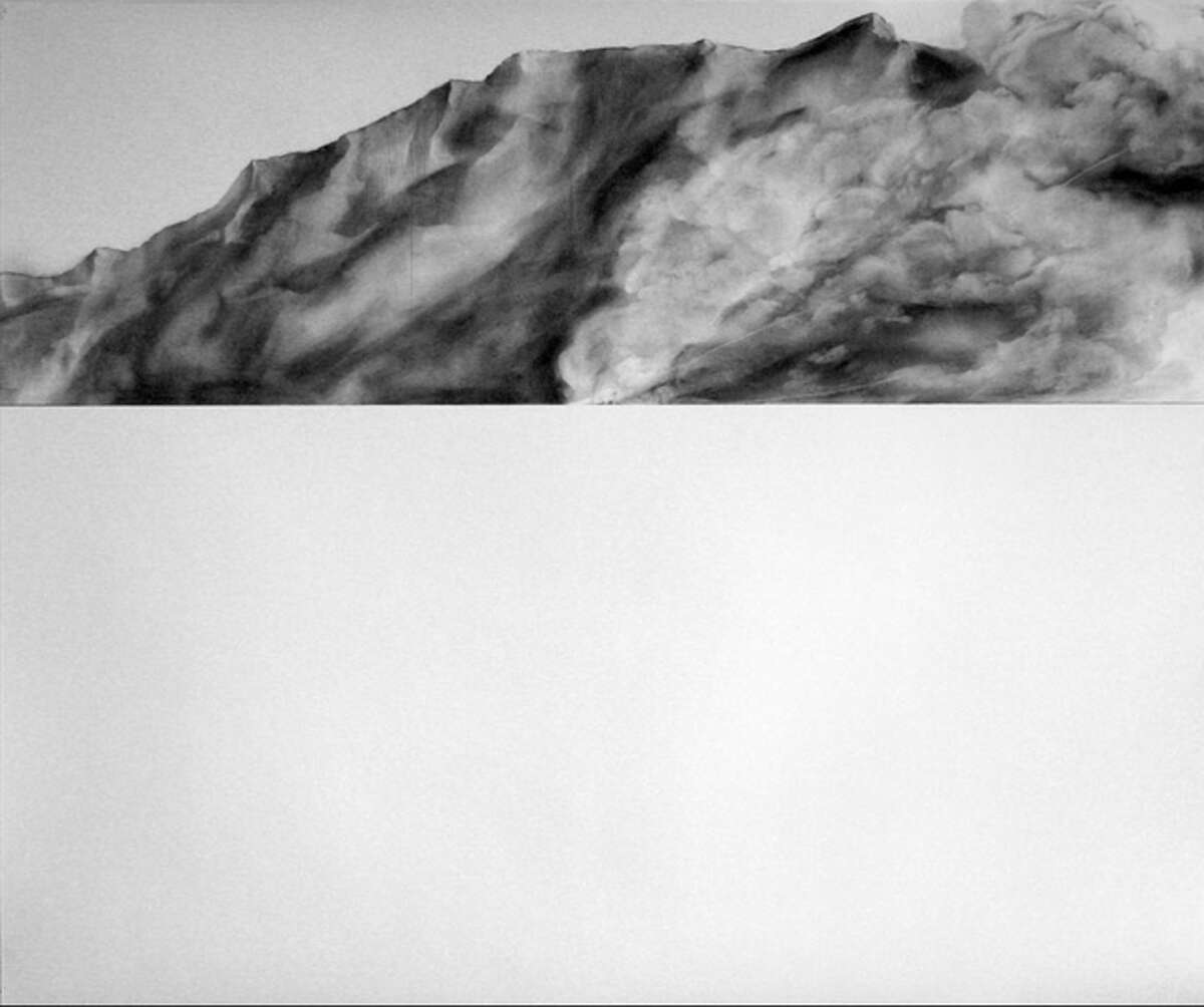 """Megan Harrison's drawing """"Distant Ridge"""" is featured in """"Up and Coming: 4 to Know"""" at David Shelton Gallery."""
