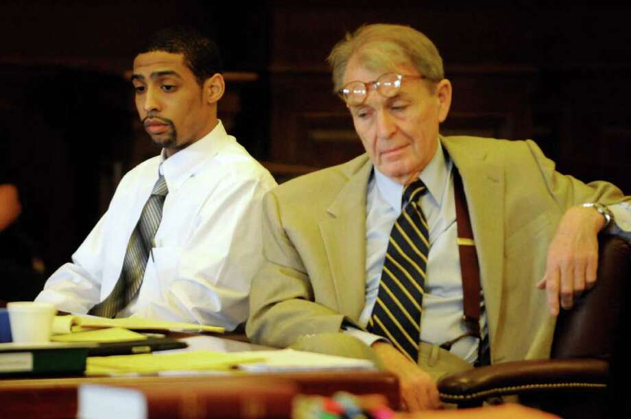 Murder suspect Tyrone Chaires and his attorney Terence Kindlon are shown in Rensselear County Courthouse in Troy, NY, on Wednesday, July 20, 2011. ( Michael P. Farrell/Times Union archive) Photo: Michael P. Farrell