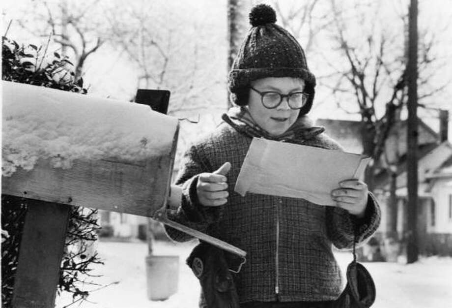 Ralphie (Peter Billingsley) gets his Christmas wish in the holiday classic A Christmas Story. Photo: MGM/UA Entertainment