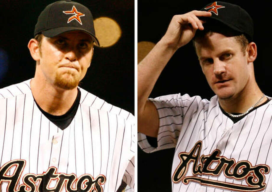 Brad Lidge and Roy Oswalt won't be pitching for any other teams this season. The Astros made no deals Monday. Photo: Chronicle
