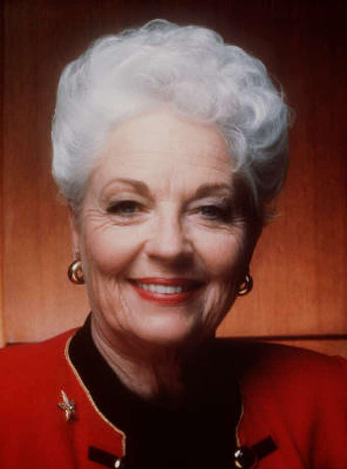 Ann Richards, former Texas governor, has died. She was 73. Photo: Handout