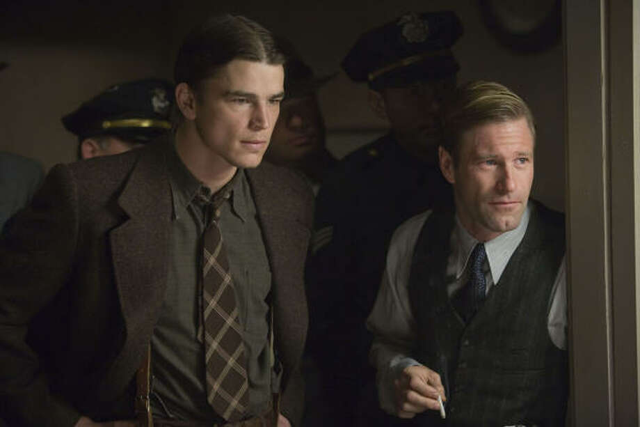 Two cops (Aaron Eckhart, right, and Josh Hartnett) are called to investigate the homicide of an ambitious actress, in The Black Dahlia. Photo: Universal Pictures