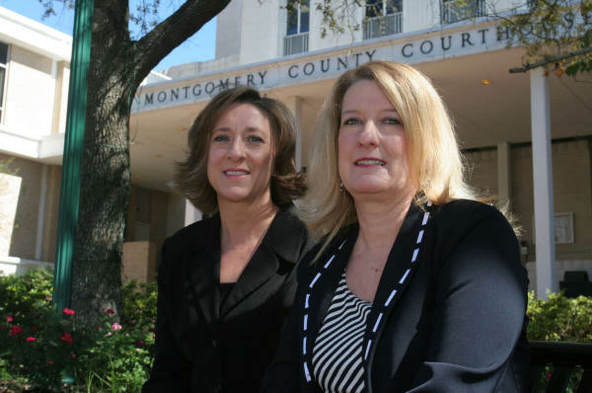 Lisa Gabbert, left, and Rona Stratton Smith lobbied for Texas' sexually violent predator law. Gabbert attended school with Retha Stratton, Miller's 18-year-old victim. Smith is Stratton's sister.