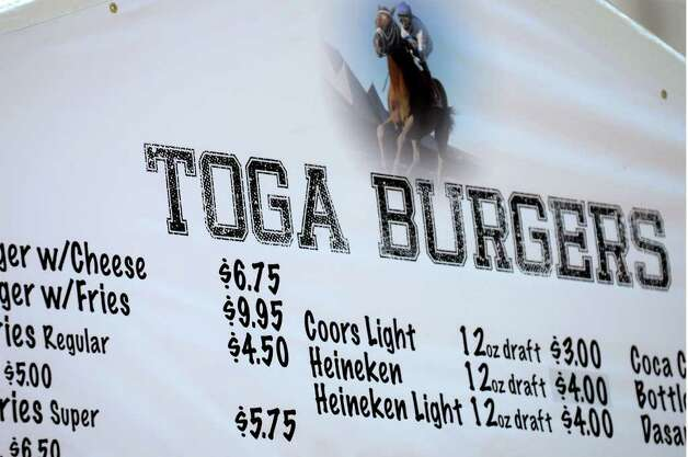 Beer prices are advertised on Restaurant Row on Wednesday, July 20, 2011, at Saratoga Race Course in Saratoga Springs, N.Y. (Cindy Schultz / Times Union) Photo: Cindy Schultz