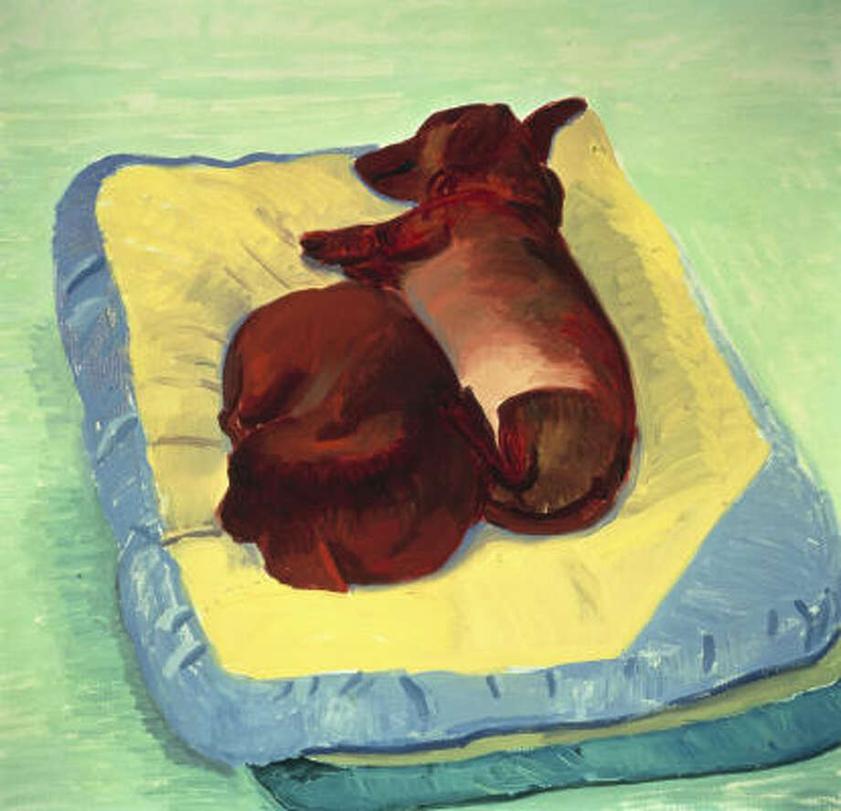 David Hockney's Dog Painting 25, 1995, oil on canvas. Photo: Museum Of Fine Arts, Houston
