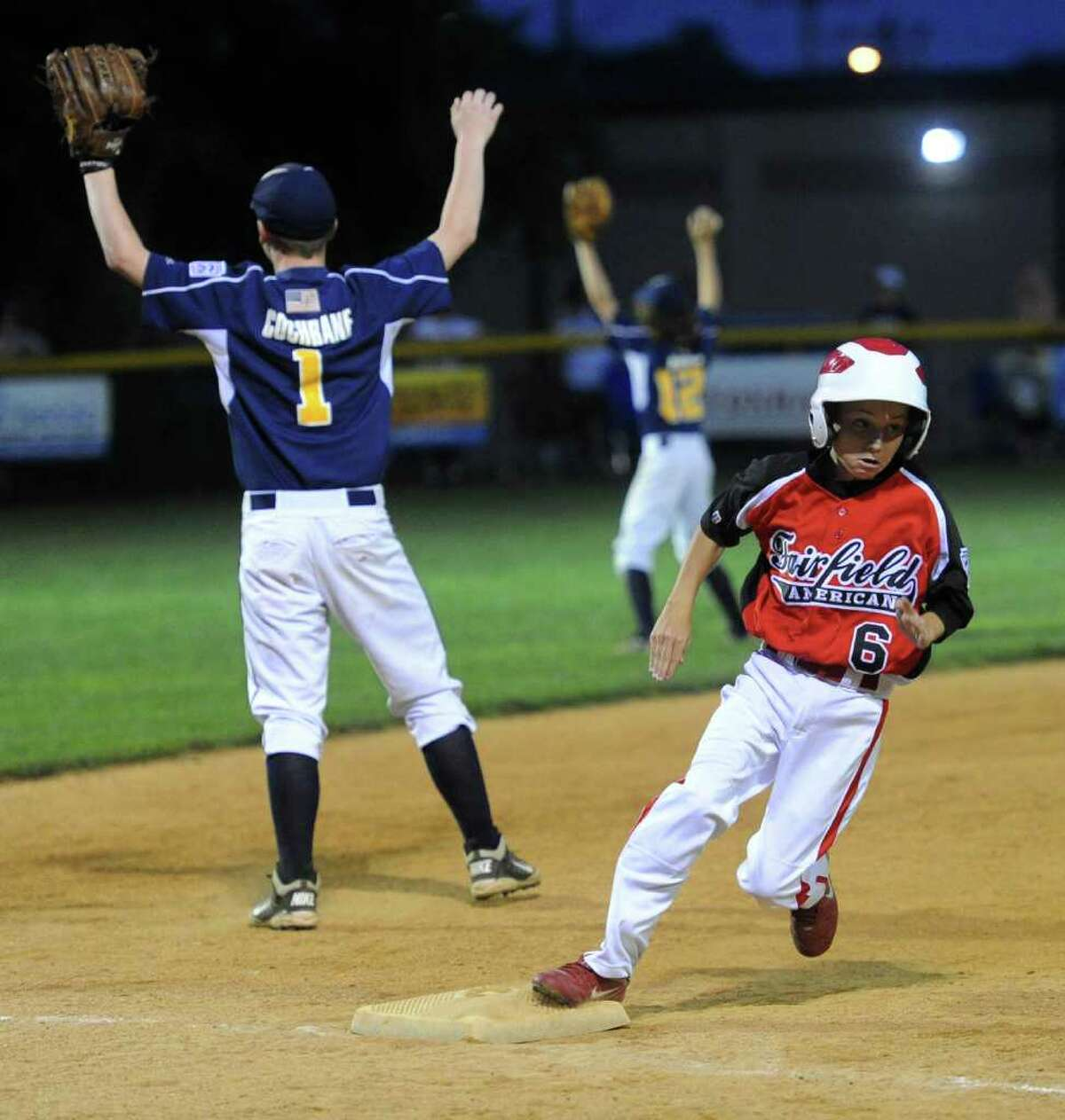 Fairfield American plays against East Haven during Wednesday's Little League sectional game in Orange on July 20, 2011.