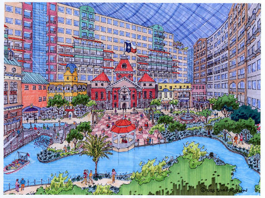 The Astrodome hotel would seek to attract groups looking for a self-contained facility. Photo: Astrodome/URS Corp Redevelopment