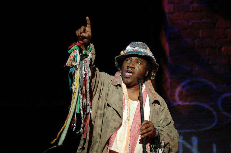Tony Award winner Cleavant Derricks stars as Streetsinger, the group leader and narrator of Brooklyn. Photo: Rob Levine, TUTS