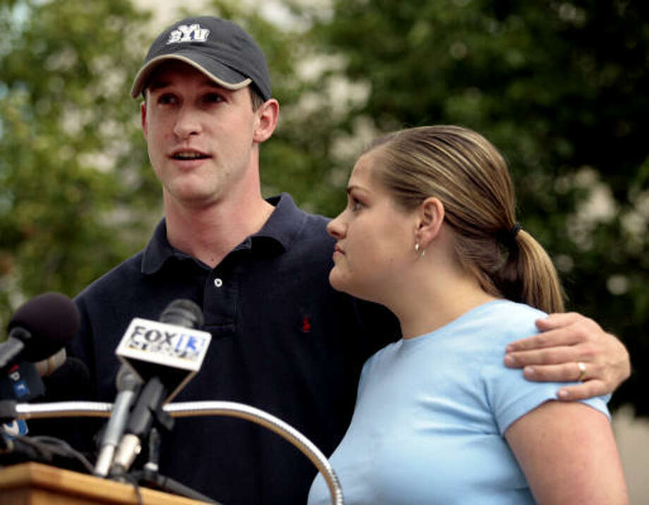 Jake and Erin Herrin, parents of 4-year-old conjoined twins Kendra and Maliyah, said they were nervous about seeking the girls separate for the first time. Photo: STEVE C WILSON, AP