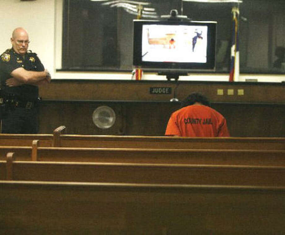Capital murder suspect Juan Leonardo Quintero appears in court Sept. 22. Photo: JAMES NIELSEN / CHRONICLE