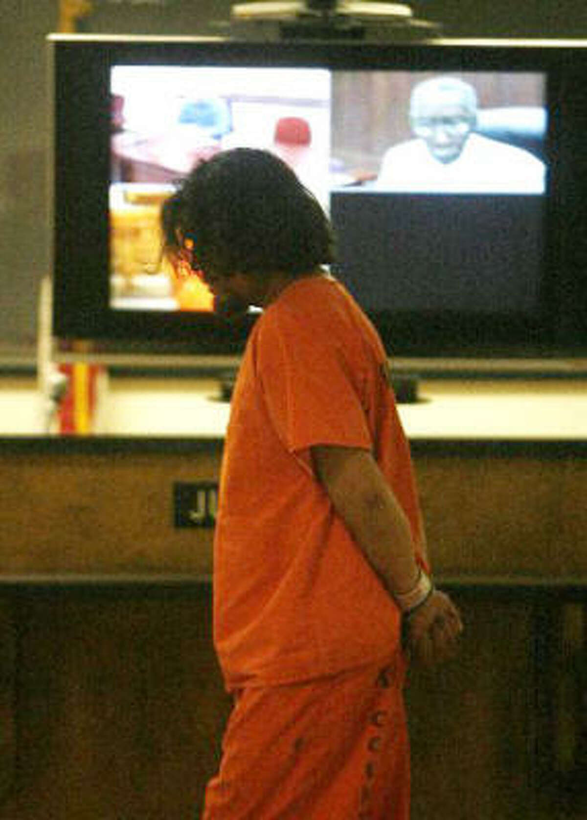 Capital murder suspect Juan Leonardo Quintero appears in court Sept. 22.
