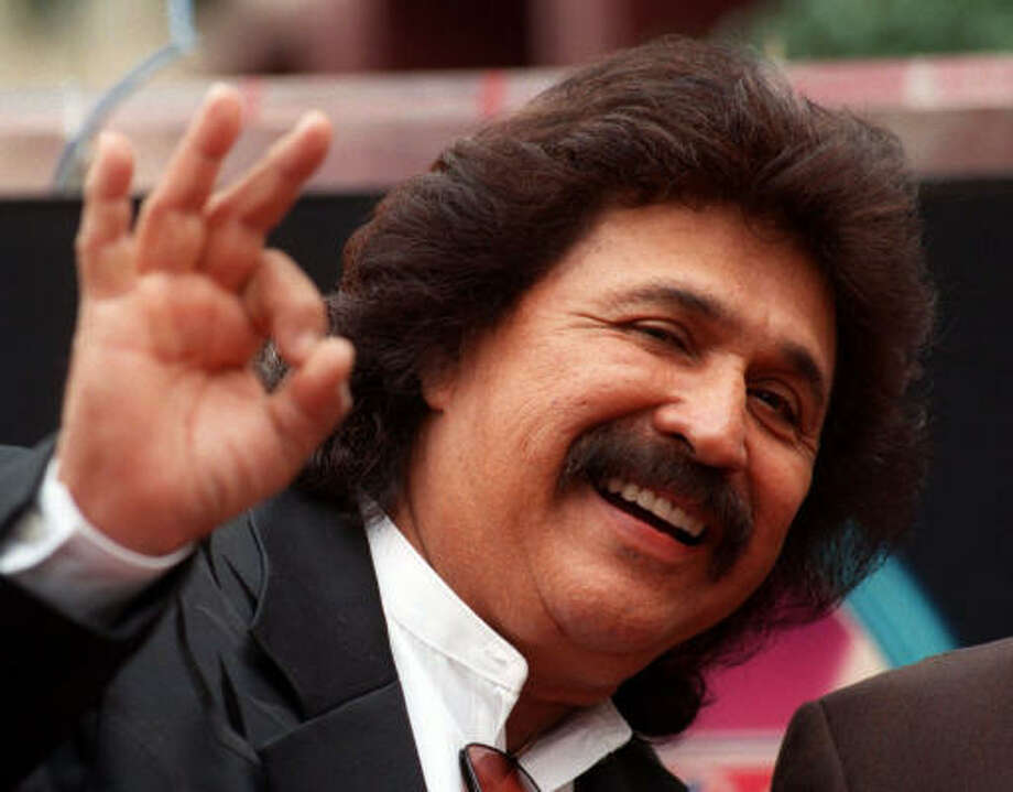 Singer Freddy Fender in 1999 fter receiving a star on the Hollywood Walk of Fame in Los Angeles. Photo: Chronicle File