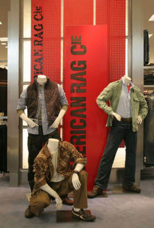 The American Rag line of men's clothing is on display at Macy's in the Galleria. Department stores saw a strong September, but analysts are unsure if that means a robust holiday season. Photo: Gary Fountain, For The Chronicle