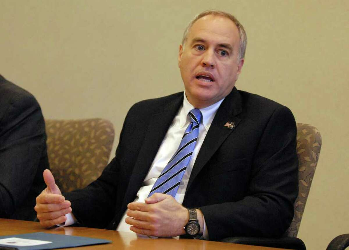 State Comptroller Tomas DiNapoli during a Times Union editorial board meeting, Monday October 25, 2010. (Will Waldron / Times Union)