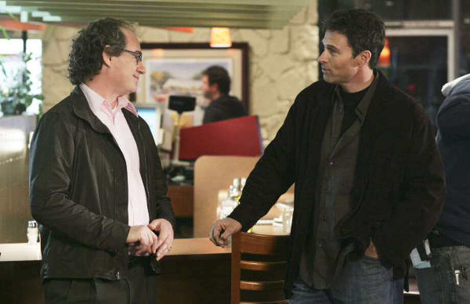 John Billingsley, left, and Tim Daly in The Nine. Photo: ABC