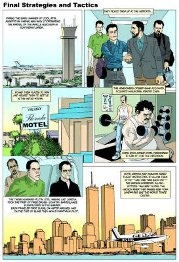 A page from The 9/11 Report: A Graphic Adaptation by Sid Jacobson and Ernie Colón. Photo: HILL AND WANG