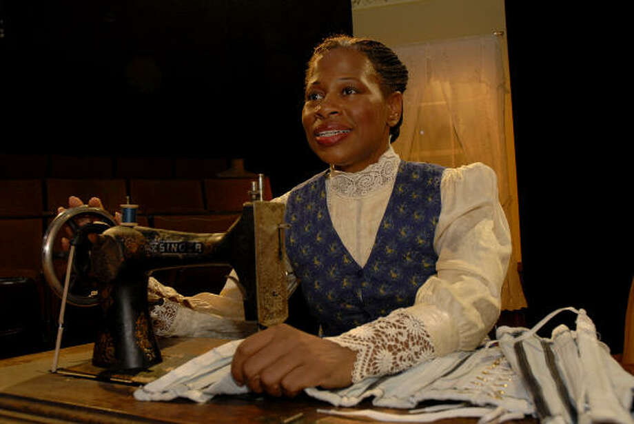 Alice M. Gatling stars as Esther in Lynn Nottage's Intimate Apparel at Main Street Theater. Photo: Meenu Bhardwaj, For The Chronicle