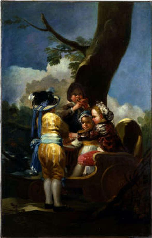 Francisco de Goya's 1778 oil painting Children with a Cart was stolen last week. Photo: AP