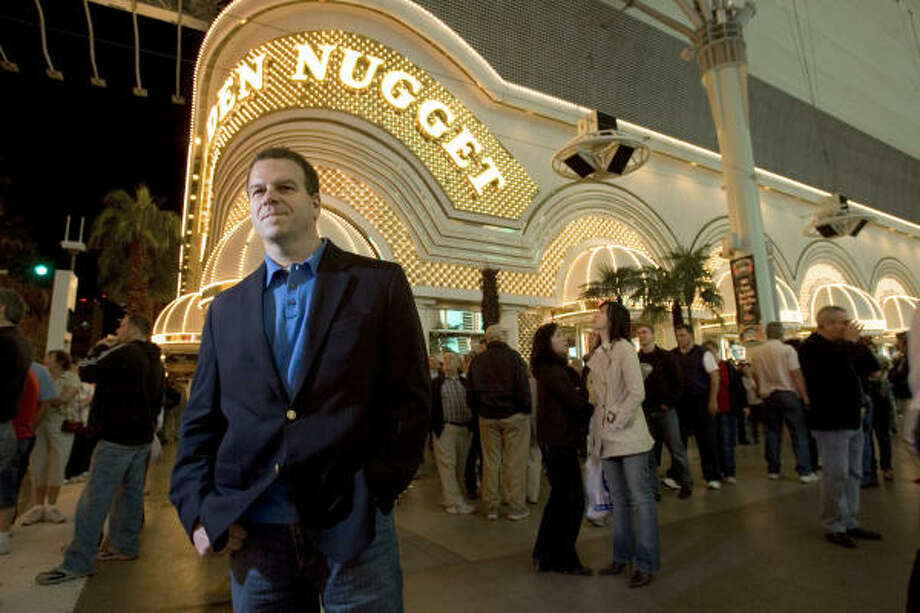 Landry's CEO Tilman Fertitta stands outside the entrance to the Golden Nugget in Las Vegas. Photo: BRETT COOMER, CHRONICLE