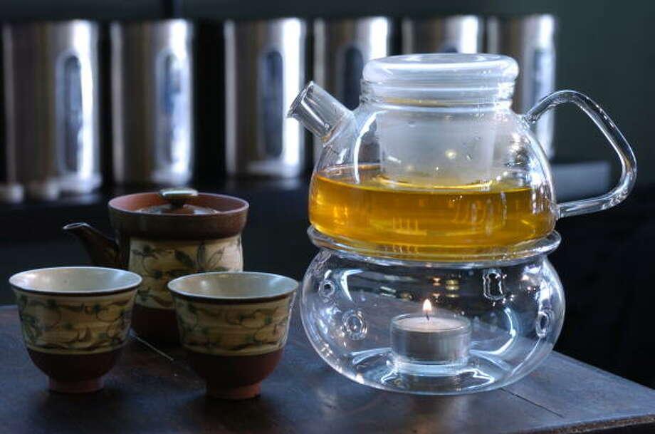 Organic Silver Needle Tea is one of 70 varieties of tea served at Serenitea by Miwa. Photo: Melissa Phillip, Chronicle