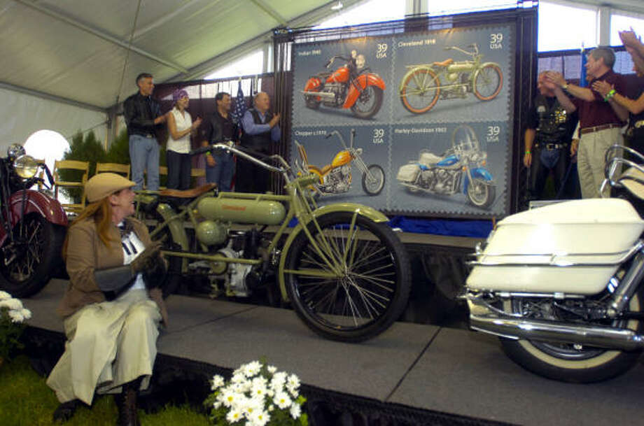 The U.S. Postal Service introduced four stamps dedicated to motorcycles last month during the Sturgis, S.D., Motorcycle Rally. Photo: CORY MYERS, AP Photo/Argus Leader