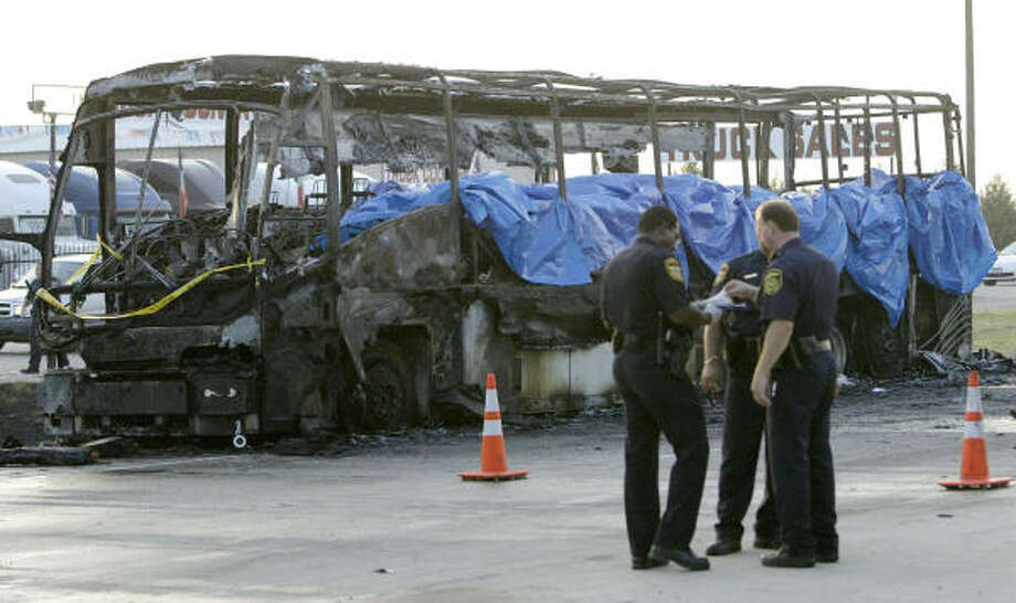 THe fire on Sept. 25, 2005, that killed 23 elderly residents from Brighton Gardens Assisted Living Center in Bellaire began in a rear wheel well and spread quickly as oxygen canisters exploded. Photo: MATT SLOCUM, AP File