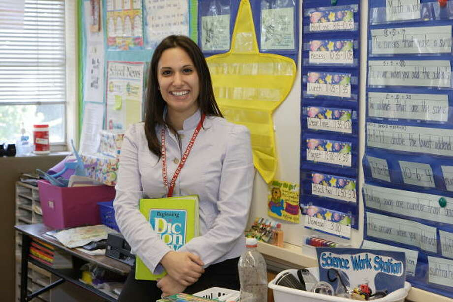 Maria Carandas was selected as the 2006-2007 National Student Teacher/Intern of the Year. The award is given to an aspiring teacher who best demonstrates the ability to plan instructional strategies that meet students' needs. Photo: Corinne Vandermeer, For The Chronicle