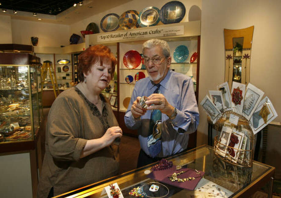 Art Milstein, co-owner of Hanson Galleries in Uptown Park and Memorial City Mall, is expecting favorable sales figures this holiday season. Photo: Carlos Antonio Rios, Chronicle
