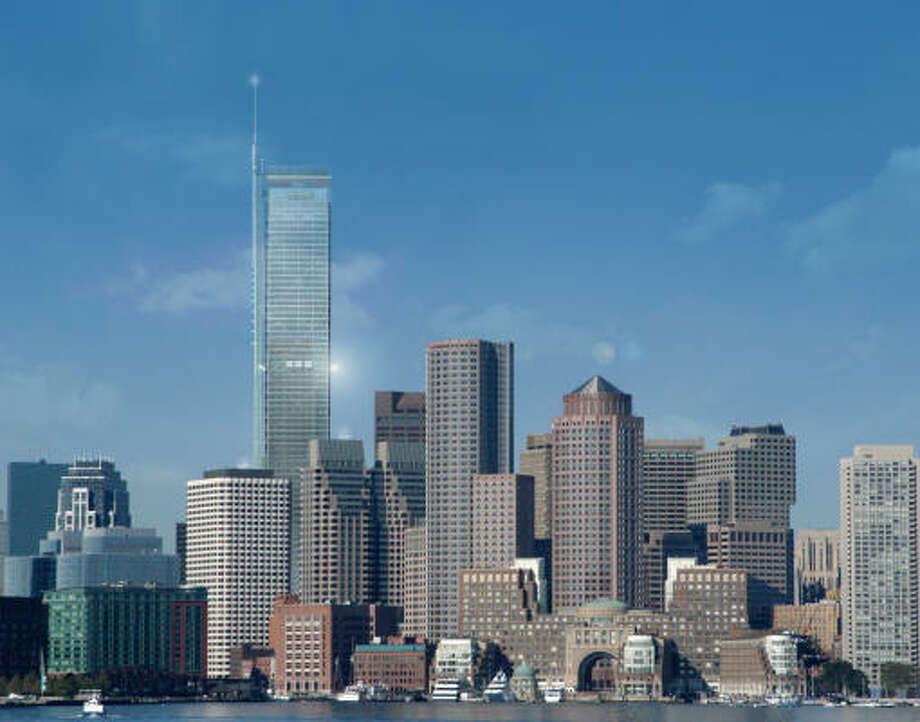 A proposed 75-story tower, shown in this conceptual design composite, would be Boston's tallest. Photo: Boston Redevelopment Authority