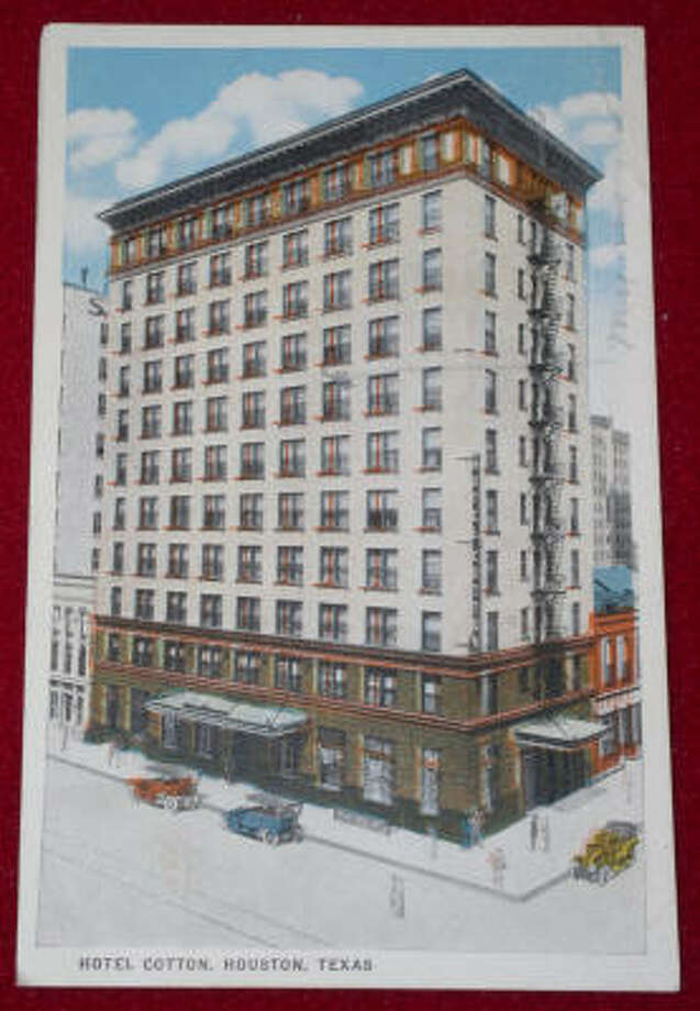 "In 1913, when it opened, Hotel Cotton was borderline swank. One of the first high-rises in Houston to be made from concrete and steel, its early ads touted ""175 fireproof rooms."" Sitting on the southern tip of downtown, the hotel's other selling point was a bathroom in every room. By the late 1960s, though, after the name changed to Montagu Hotel, things had started to shift. Photo: George Kalas"