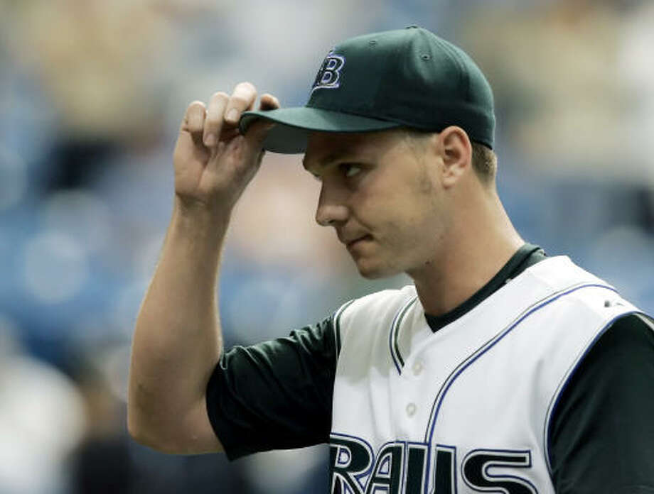 A day after earning his first All-Star bid, Scott Kazmir pitched a two-hit shutout with 10 strikeouts to beat the AL East-leading Boston Red Sox 3-0 on Monday. Photo: CHRIS O'MEARA, ASSOCIATED PRESS