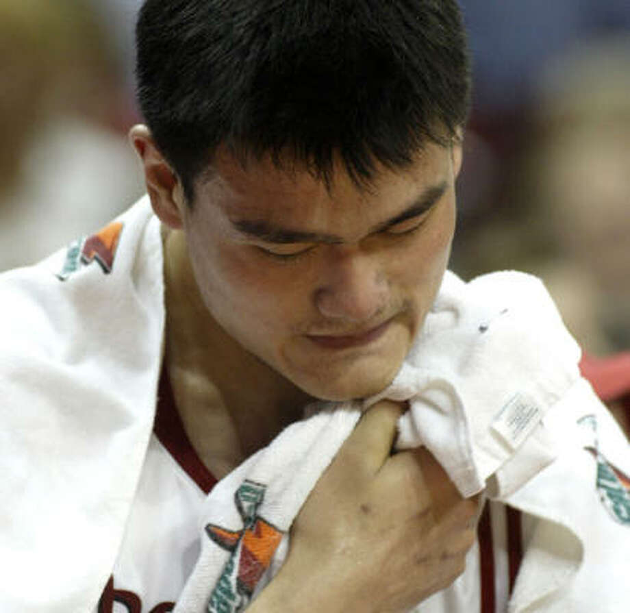 Reebok is redesigning the Yao Ming's ATP Pump shoes in an effort to stop his toe pain. Photo: Jessica Kourkounis, For The Chronicle