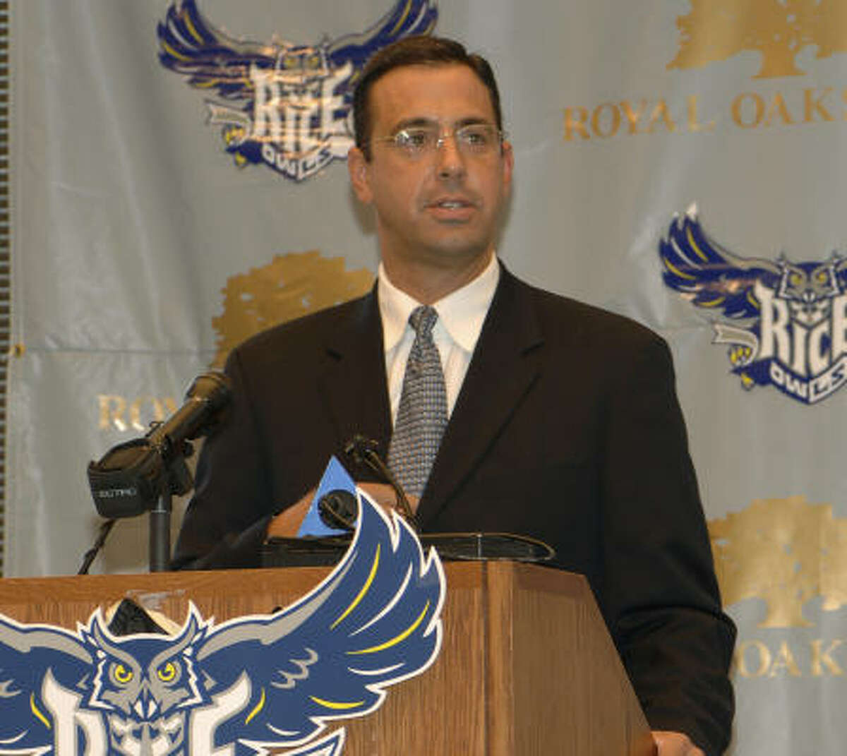 New Rice athletic director Chris Del Conte believes the Owls can be contenders in every sport they play.