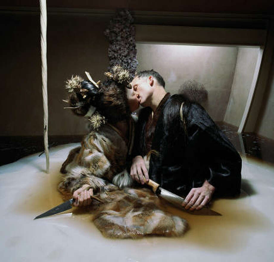 Matthew Barney and Björk as western guests on a Japanese whaling ship in Drawing Restraint 9 Photo: IFC Films