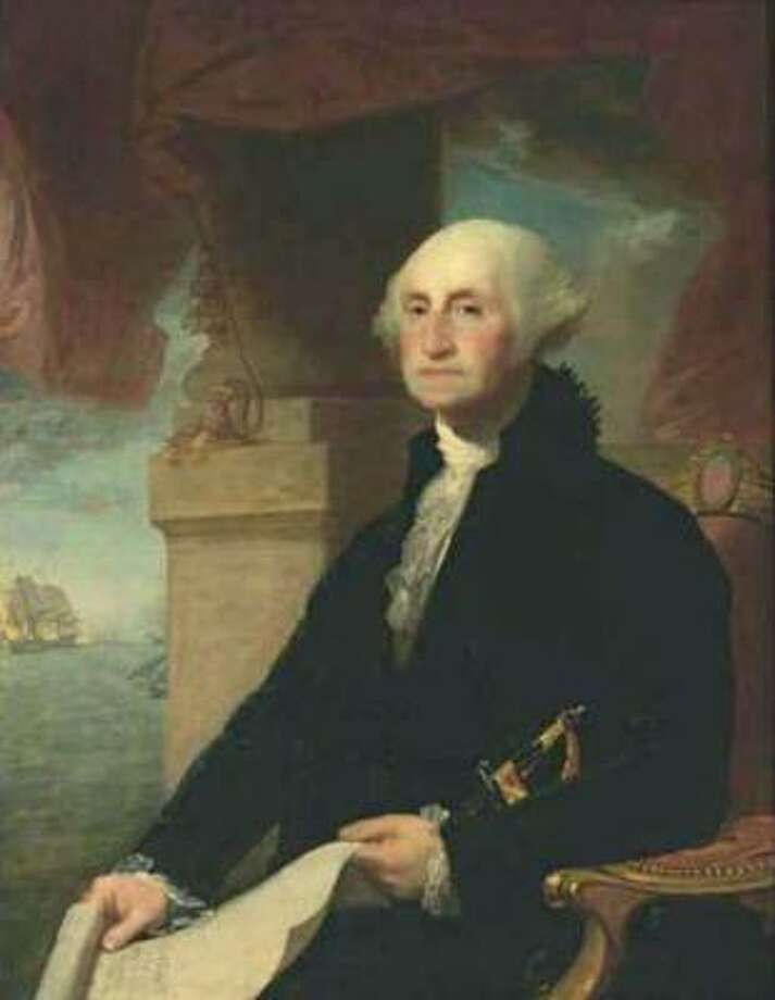 This painting of George Washington by Gilbert Stuart is on long-term loan to the Museum of Fine Arts, Houston from the Crystal Bridges Museum of Art in Bentonville, Ark. Photo: Courtesy Photo