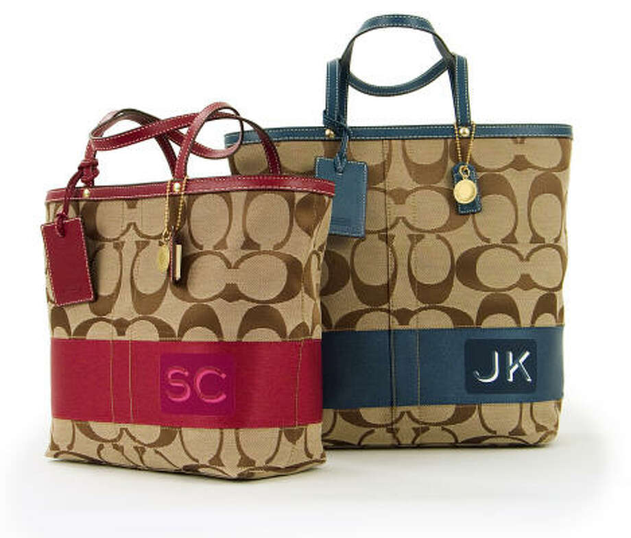 Coach allows customers the option of personalizing bags and other accessories with their own initials for an additional $25. Photo: Coach