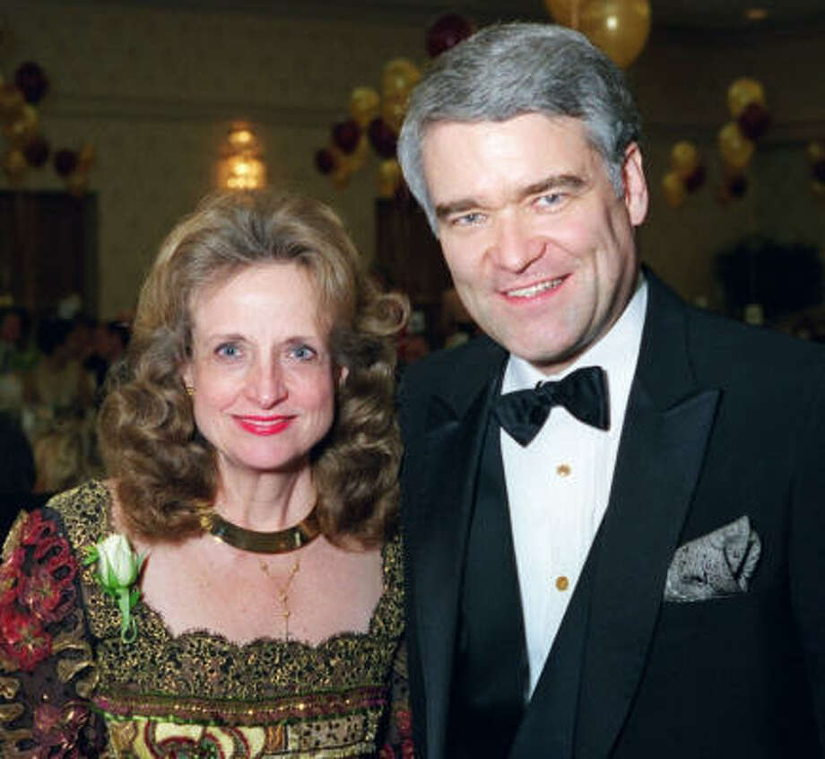 Harriet Miers and Nathan Hecht attend the Dallas Bar Association Gala in Dallas in 1998. Photo: ANDY HANSON, AP