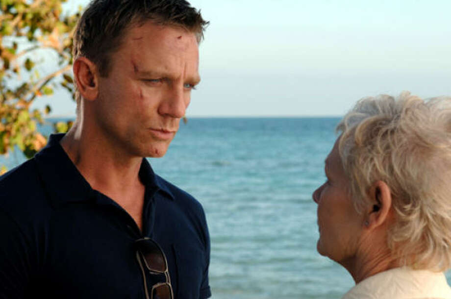 Daniel Craig stars as James Bond, with Judi Dench as M, in Casino Royale. Photo: Sony Pictures