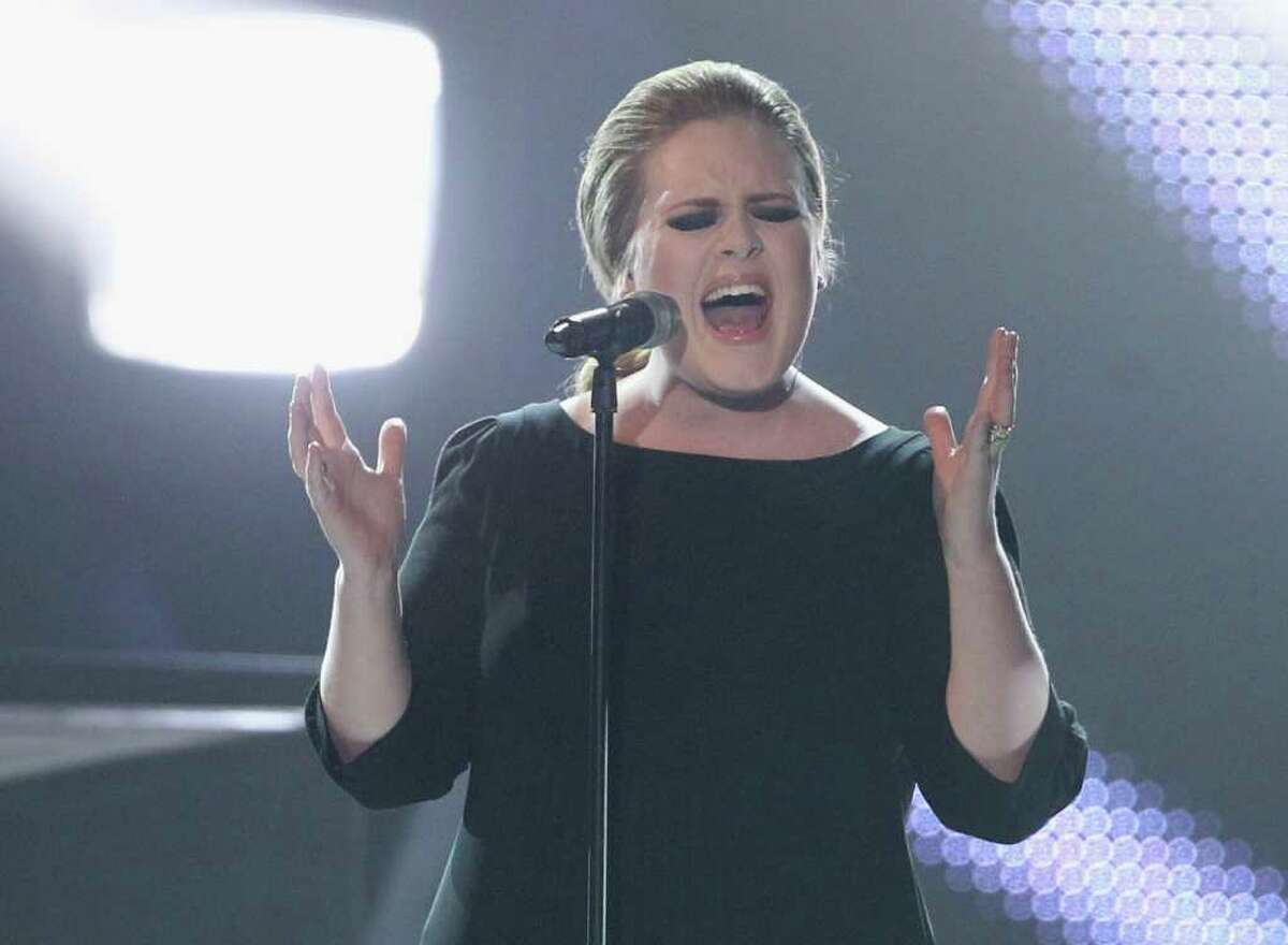 Bubbly diva Adele was right behind Katy Perry, scoring seven nominations for